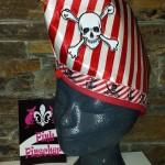 Kappe Pirat mit Totenkopf