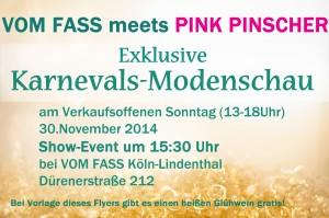 Flyer PinkPinscher vomFass 102014