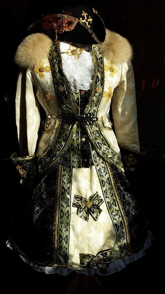 Viktoriansiches Kleid 4-teilig