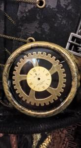 Steampunkhut mit Rolex Ziffernblatt