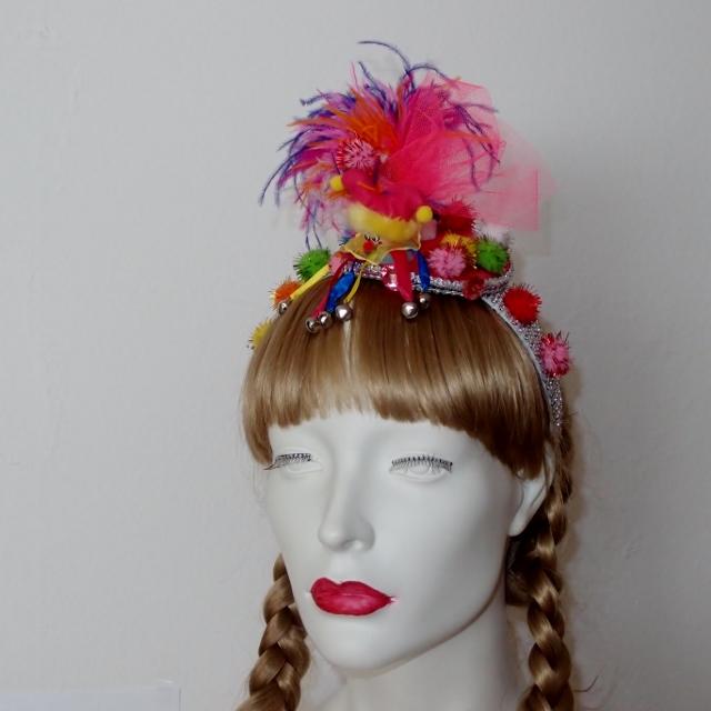 Fascinator Kopfschmuck Pink Pinscher Köln