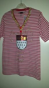 Ringelshirt rot weiss mit Köln Wappen