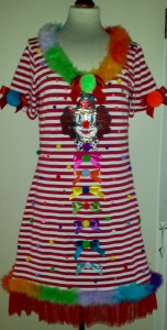 Ringelkleid Longshirt Clown
