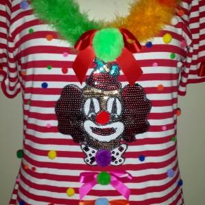 Ringelshirt rot weiss mit Clown Pink Pinscher Köln